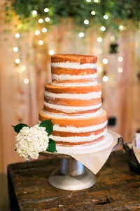 Naked Cake in the Barn