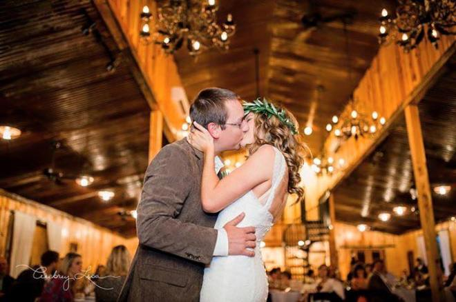 Milagro Farms' barn is romantic, rustic and the perfect place for this couple to begin the adventure.