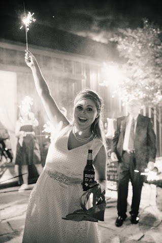 Bride's happy